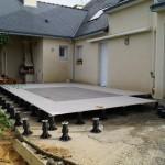 Terrasse carrelage sur plots La Baule Guérande Saint Nazaire