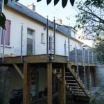 Terrasse sur pilotis La Baule Guérande Saint Nazaire